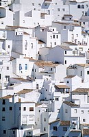 Spain, Andalusia, Costa del Sol, the White village of Casares located in the hinterland (Pueblos blancos)