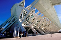 Spain, Valencia, the City of Arts and Sciences by Santiago Calatrava and Felix Candela, Prince Felipe Sciences Museum