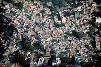 Brazil, Rio de Janeiro, Rocinha favela (aerial view)
