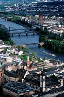 Germany, Frankfurt, the city and the Main river
