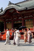 Japan, Honshu Island, Nara city (close to Kyoto), Shinto temple of Hachimangu