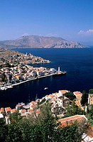Greece, Dodecanese, Symi Island, the port of Gialos