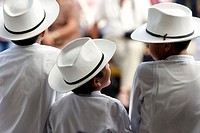 Mexico, state of Yucatan, Merida, children during folkloric dances