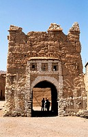 Morocco, Anti Atlas, entrance of Ait Kin village close to Tata