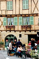 France, Lot (46), Figeac, Champollion square, le Champollion pub