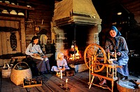 Norway, Oppland County, Lillehammer, a traditional farme of Maihaugen Museum and village