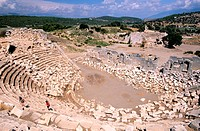 Turkey, Lycian Coast, lycian site of Patara, the antic theatre