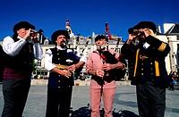 "France, Finistère (29), Quimper town, Bigouden bell ringers of ""Ar Re Goz bagade"