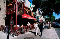 Canada, Quebec, Montreal, busy districts, St. Denis street