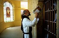 France, Alpes-Maritimes (06), Saint-Honorat island, monastery´s abbot Don Marie Vladimir Gaudrat