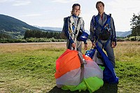 Two male parachutists