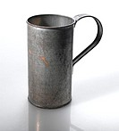 Old tin cup, close-up