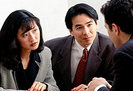 Couple at meeting in office