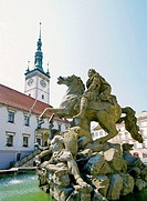 Fountain on Main Square Olomouc Czech Republic