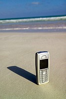 mobile on the beach