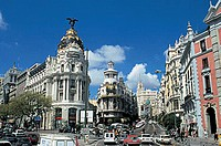 spain, madrid, metropolis, gran via