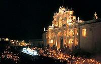 america, guatemala, antigua, semana santa, cathedral