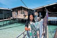 malaysia, sabah, mabul island, pulau mabul, fishermen village