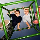 Boys on Top of Jungle Gym