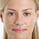 Woman Wearing Nasal Cannula for Supplemental Oxygen (thumbnail)