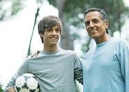 Mature man with teenage grandson