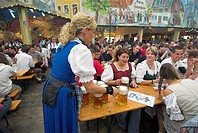 Oktoberfest beer tent. Munich, Bavaria, Germany