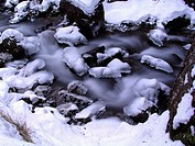 winter torrent in Italy, Trentino Alto Adige, Serrai di Sottoguda