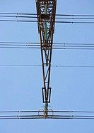 Electric pylon, close-up