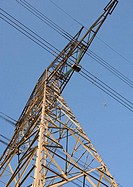 Electric pylon, low angle view