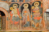 The church of St. Archangels Michael and Gavrail, XVIth century, frescos. Arbanassi. Bulgaria.