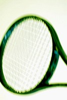 Close-up of a tennis racket