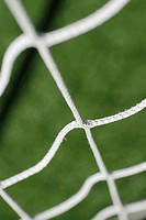 Close-up of a soccer net