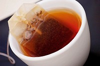 High angle view of a cup of tea