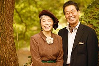 Portrait of a senior man and a mature woman smiling