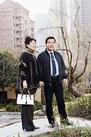 Portrait of a mature couple holding hands