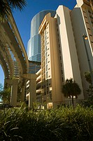 Low angle view of buildings in a city, Miami, Florida, USA