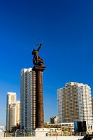 Low angle view of a statue, Miami, Florida, USA