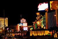 Buildings lit up at night, Las Vegas, Nevada, USA
