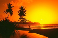 A spectacular sunset, Tobago, Caribbean