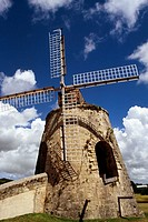 Low angle view of a windmill, St. Croix, Virgin Islands