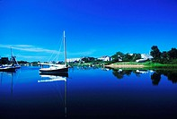 Boats in a river, Cape Cod, Massachusetts, USA