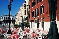 Chair in front of a hotel, Italy