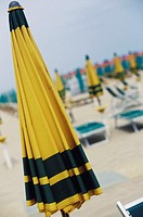 Close-up of a beach umbrella, Italy