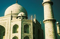 Low angle view of a monument, Taj Mahal, Agra, Uttar Pradesh, India