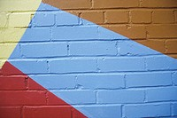 Close-up of a painted brick wall