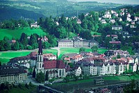 High angle view of a cityscape, St. Gallen Canton, Switzerland