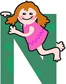 A kid with the letter N (thumbnail)