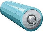 Illustration of a double A battery
