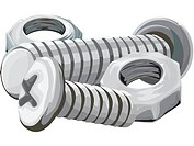 Illustration of nuts and bolts