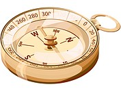 Illustration of a compass